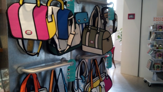 Forgot the name of this store but these handbags were pretty cool