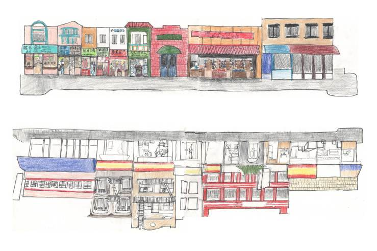 Oakland Chinatown Drawings